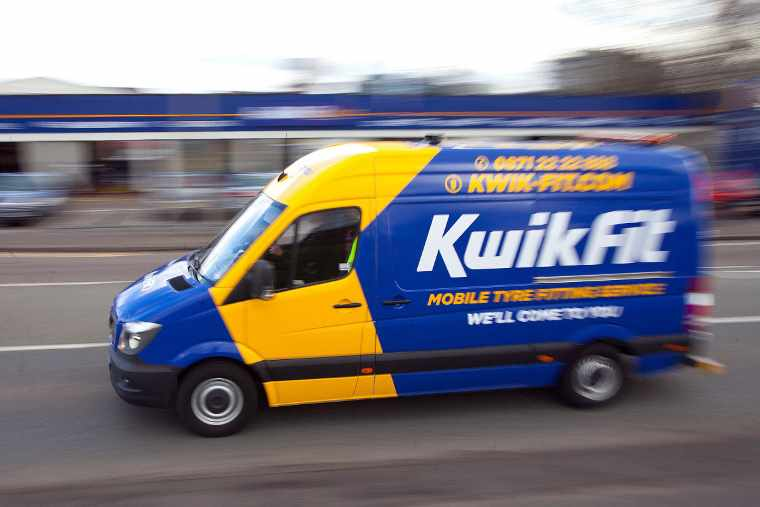 Kwik Fit mobile van in motion