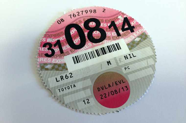 car tax disc 2014