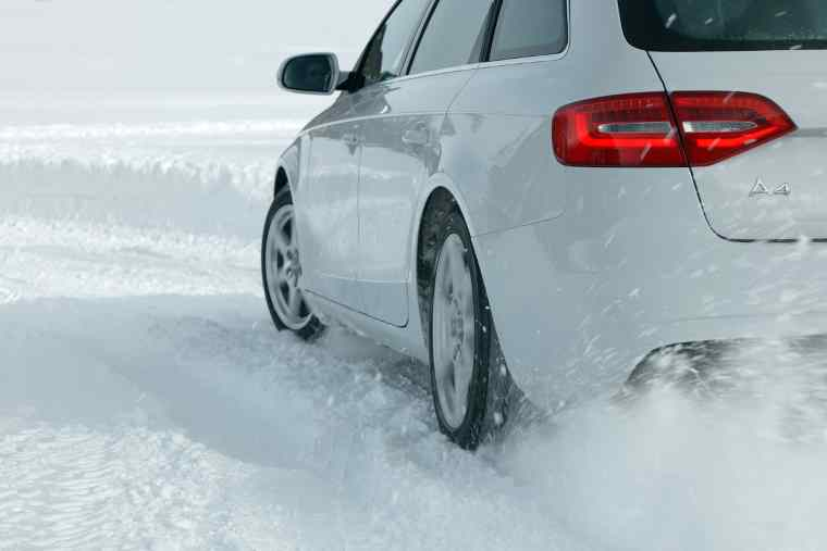 Audi driving in snow