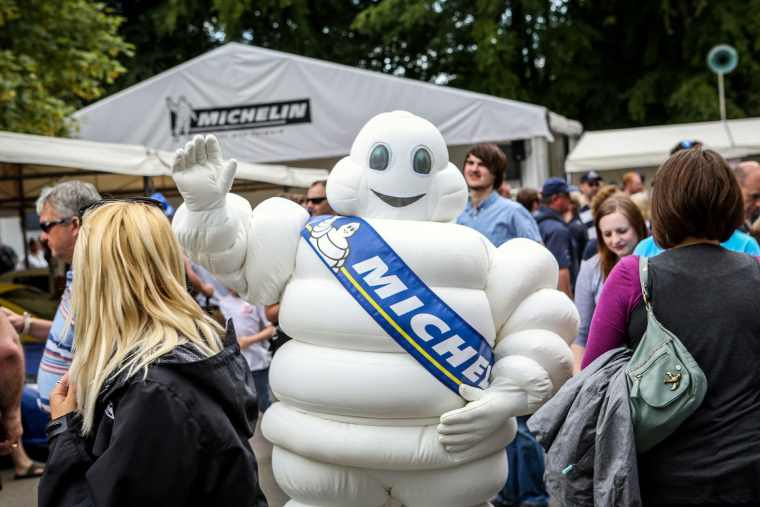 Michelin man at Goodwood festival