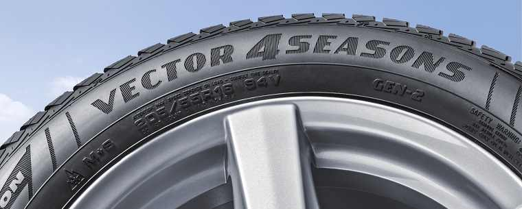 Goodyear Vector 4Seasons tyre close up