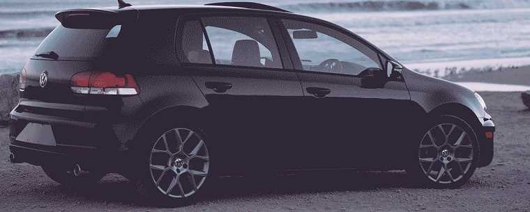 Black Volkswagen Golf