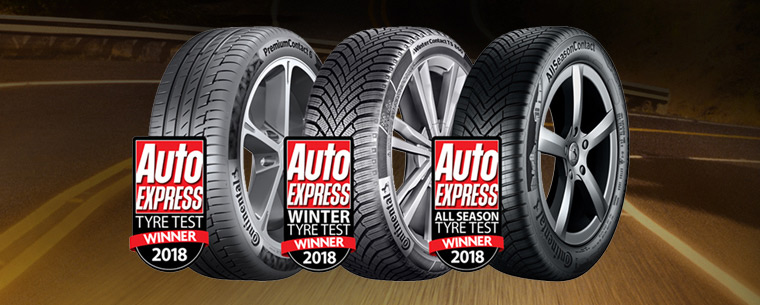 Continental three award winning tyres