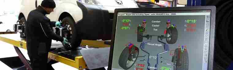Wheel alignment display