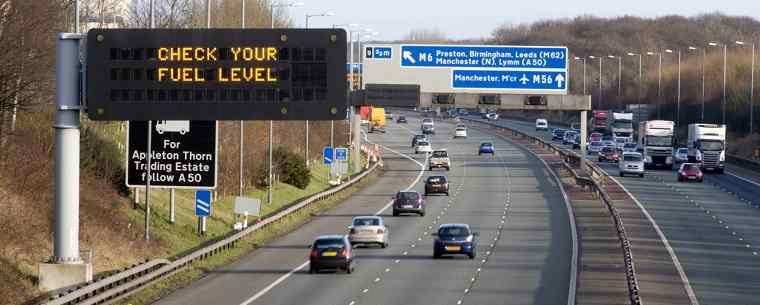 traffic on a UK motorway
