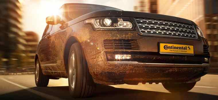 Range Rover with SUV tyres