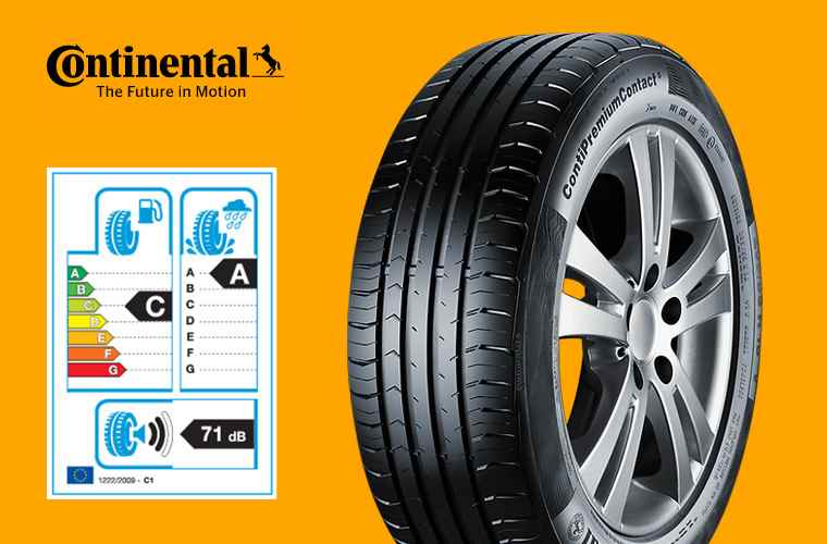 Continental Premium Contact 5 and tyre label