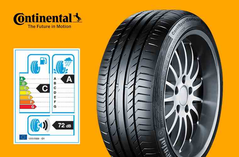 ContiSportContact 5 SUV and tyre label