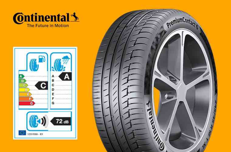 Continental Premium Contact 6 and tyre label