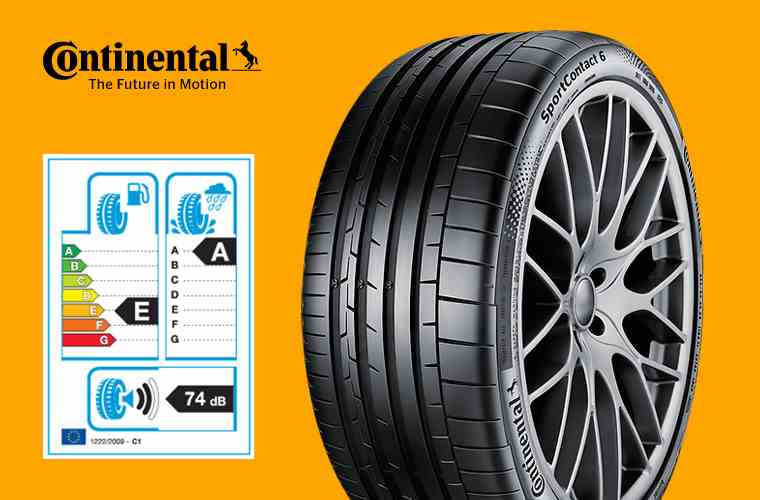 Continental SportContact 6 and tyre label