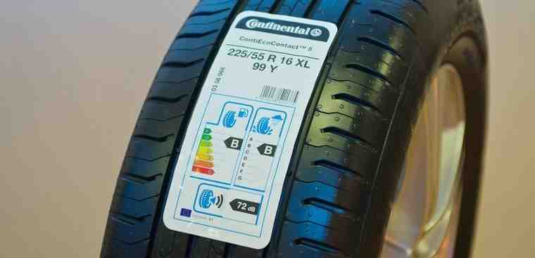 Tyre with EU tyre label