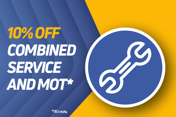 10% Off Combined Service & MOT
