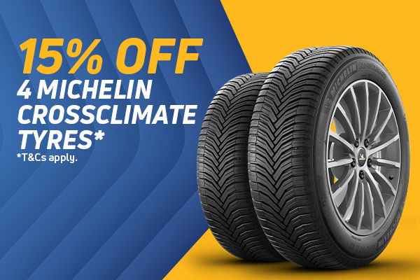 15% Off 4 CrossClimate Tyres