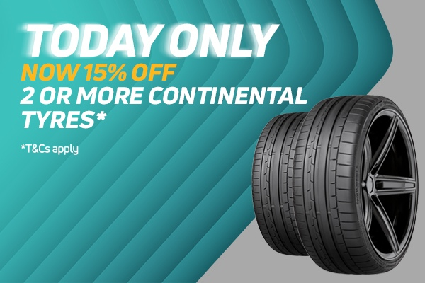 15% off Continental tyres