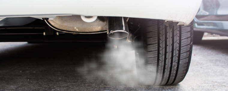 Car Exhaust Showing Emissions Leaving