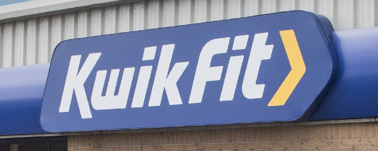 Kwik Fit signage on centre