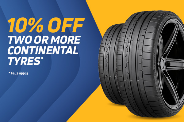 10% Off Continental Tyres