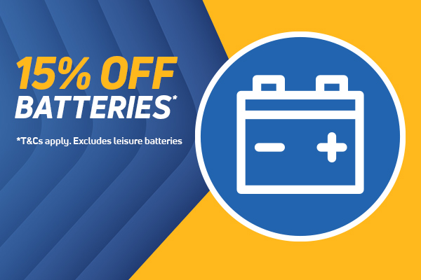 15% Off Batteries