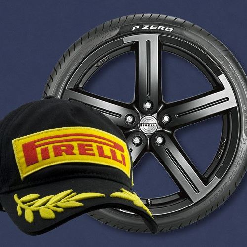 Claim a free Pirelli podium cap when you buy 2 Pirelli tyres plus get 10% off with code CHAMP