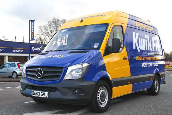Kwik Fit mobile fitting van